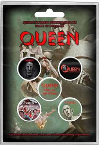 Queen News of the World   5 Pin Badges in Pack  (ro)